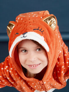 Child girl's faux fur hooded pajamas MEFASURFOX / 21WH1192D4F420