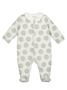 Unisex babies' printed sleepsuit GOU1GRE2 / 19WF0511GRE001