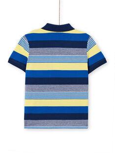 Striped polo shirt - Child boy LONAUPOL / 21S902P1POL070