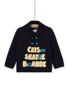 Baby Boy's Fancy Embroidery Funnel Neck Sweater MUTUPUL / 21WG10K1PULC234