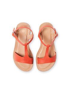 Orange sandals child girl LFSANDMADDIE / 21KK3551D0E400
