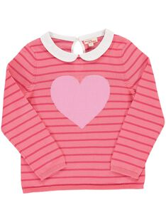 Girls' cotton knit sweater CAHOPULL1 / 18S901E1PULF503