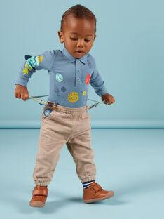 Baby boy plaid pants with striped suspenders MUPLAPAN2 / 21WG10O2PAN817