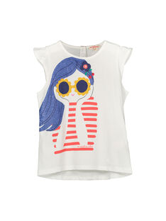 Girls' short-sleeved T-shirt FACOTI3 / 19S90183TMC001