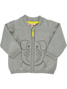 Baby boys' cotton cardigan CUJOGIL2 / 18SG10R2GILJ908