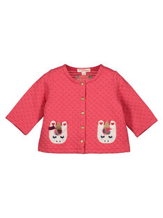 Baby girls' quilted cardigan GIVECAR / 19WG0921CARD318