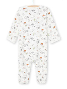 Ecru sleep suit with fancy all-over print mixed birth MOU1GRE5 / 21WF0542GRE001