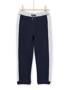 Boy's navy blue and grey jogging suit MOJOJOB1 / 21W90214JGB705