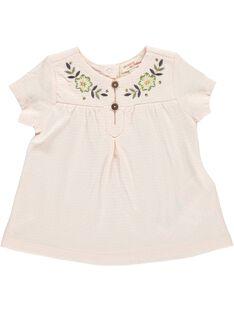 Baby girls' short-sleeved T-shirt CICETI / 18SG09M1TMC307