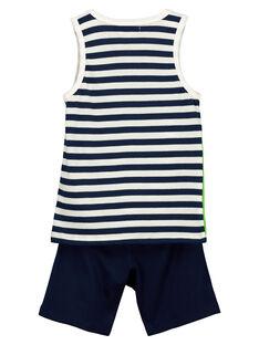 Boys' vest and shorts set FOPLAENS2 / 19S902P2ENS000