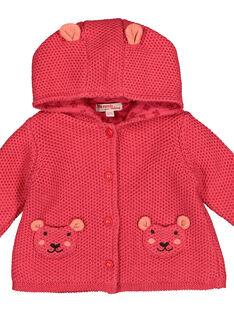 Baby girls' knit hooded jacket FIBAVEST1 / 19SG09X1VES308