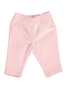 Baby girls' twill trousers CIJOPAN4 / 18SG09R5PAN321