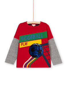 Red and green t-shirt for boys LOHATEE / 21S902X1TML050