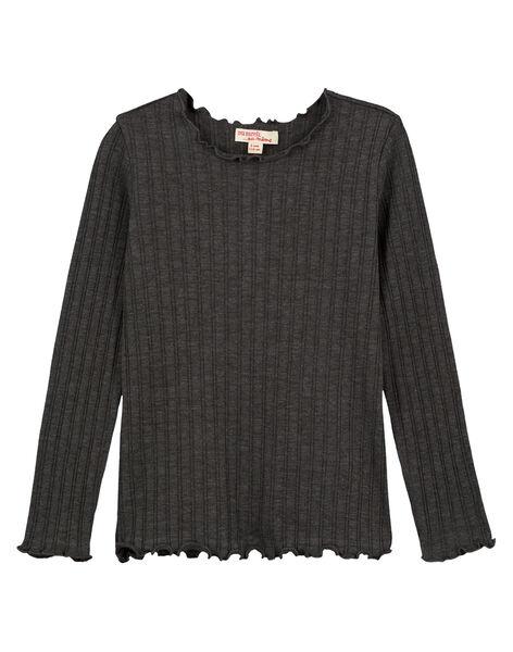 Dark grey Longsleeve T-SHIRT GAJOUTEE4 / 19W9014CD32944