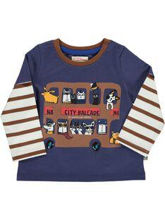 Baby boys' 2 in 1 effect long-sleeved T-shirt DUCHOTEE1 / 18WG10F1TML710