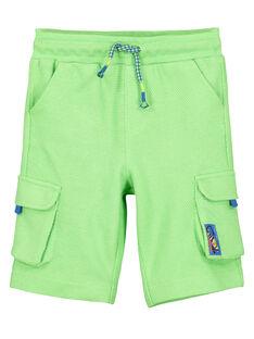 Boys' pique knit shorts FOYEBER3 / 19S902M4BER603