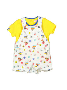 Baby boys' dungarees and T-shirt set FUCOENS / 19SG1081ENS000