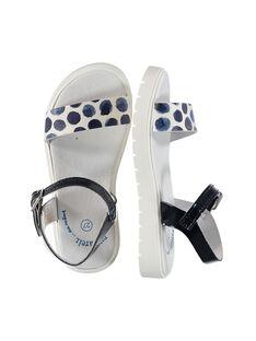 Girls' smart two-tone sandals FFSANDJANE / 19SK35B2D0E070
