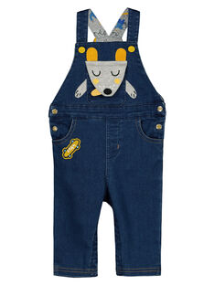 Baby boys' denim long dungarees GUBLESAL / 19WG1091SALP274