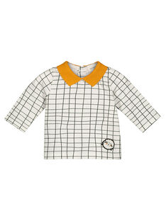 Unisex babies' graphic checked T-shirt GOU1TEE / 19WF0511TML001