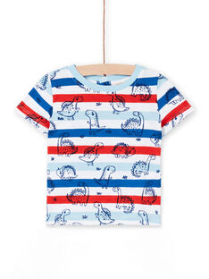 Striped t-shirt short sleeves baby boy LUCANTI / 21SG10M1TMC000