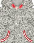 Baby boys' zipped hooded jacket FUGROVES2 / 19SG10X2VES099