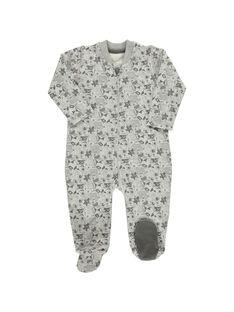 Baby boys' cotton sleepsuit CEGUGREMER / 18SH1453GRE099