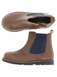 Boys' leather boots DGBOOTCHE2 / 18WK36T2D0D802
