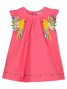 Baby girls' flared dress FICAROB4 / 19SG09D4ROB302