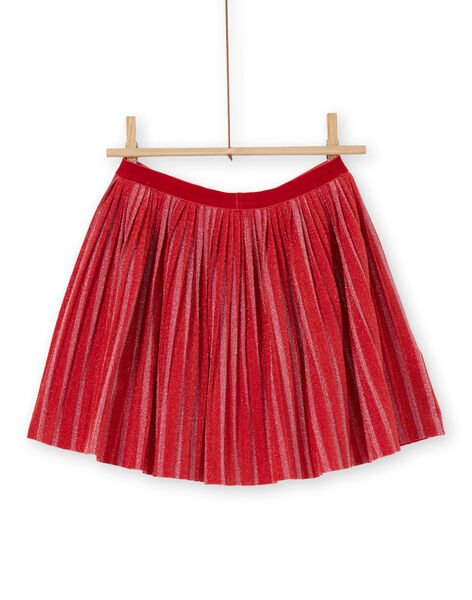 Pleated and striped skirt LAROUJUP1 / 21S901K2JUPF517
