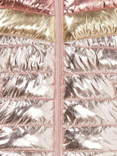 Metallic tricolor hooded jacket LAROSDOUNE / 21S901R2D3EK007