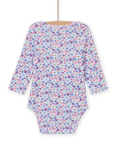 Baby girl's long sleeve floral print bodysuit MEFIBODLIB / 21WH13C6BDL001