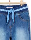 Baby Boy Elasticated Denim Jeans MUJOJEAN / 21WG1011JEAP274