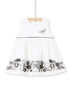 Baby girl white velvet dress LIPOEROB1 / 21SG09Y2ROB001