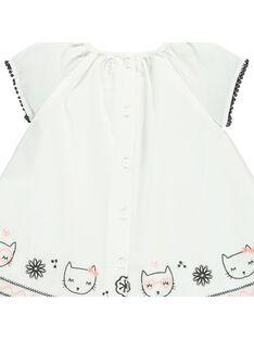 Baby girls' short-sleeved dress CIBENROB2 / 18SG09G2ROB001