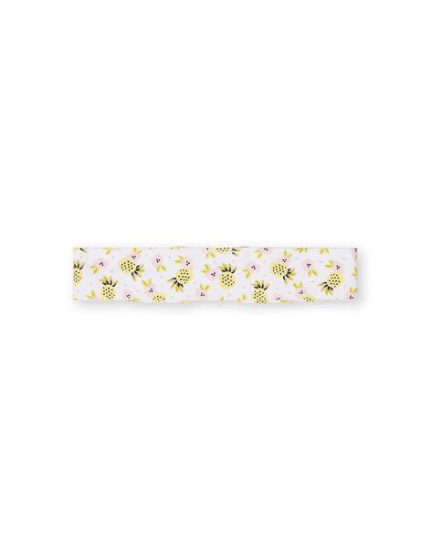 White, yellow and pink baby girl headband LYIBALBAN1 / 21SI09O1BAN000