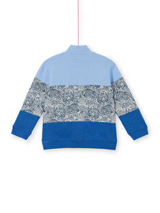 Lavender blue colorblock sweatshirt for kids and boys LOBLESWE / 21S902J1SWEC208