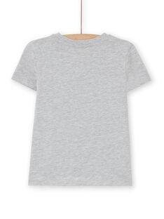 Grey heathered tee shirt - short sleeve - Child boy LOJOTI2 / 21S90233TMCJ922