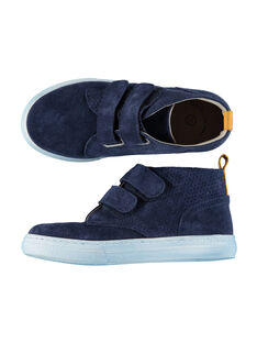 Boys? smart split leather trainers FGBASPERF / 19SK3643D3F070