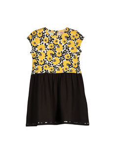 Girls' short-sleeved dress FALIROB3 / 19S90124ROB099