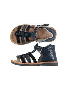 Baby girls' smart leather sandals FBFSANDBEL2 / 19SK37K3D0E070