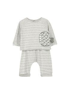 Unisex babies' cotton set FOU1ENS6 / 19SF0516ENS099