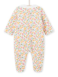 Baby girl floral print romper with fancy collar MEFIGRESAU / 21WH1394GRE001