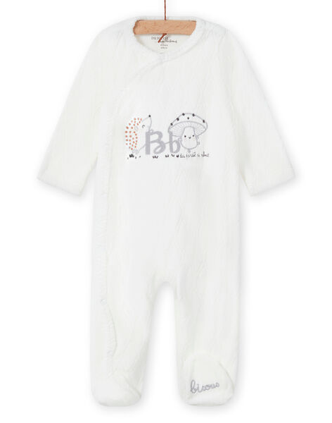 Mixed birth romper in ecru with fantaise pattern MOU1GRE1 / 21WF0541GRE001