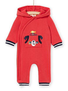 Baby boy red hooded jumpsuit LUNOCOM / 21SG10L1CBL410