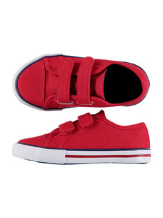 Boys' plain canvas trainers FGVELROU / 19SK36C5D16050