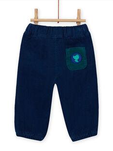 Baby Boy Corduroy Midnight Blue Pants MUJOPAN3 / 21WG1012PAN713