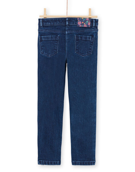 Girl's jeans with sequin stripes MATUJEAN / 21W901K1JEAP274