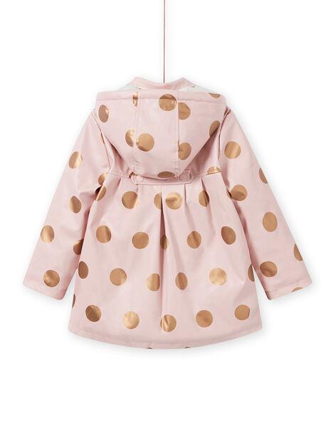 Girl's pink polka dot raincoat MAPAIMPER / 21W90151IMPD332