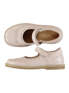 Girls' smart pearlised leather Mary-Janes FFBABPERF1 / 19SK3542D13030